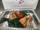 Filetto di tonno rosso alla griglia su spinaci e aceto balsamico